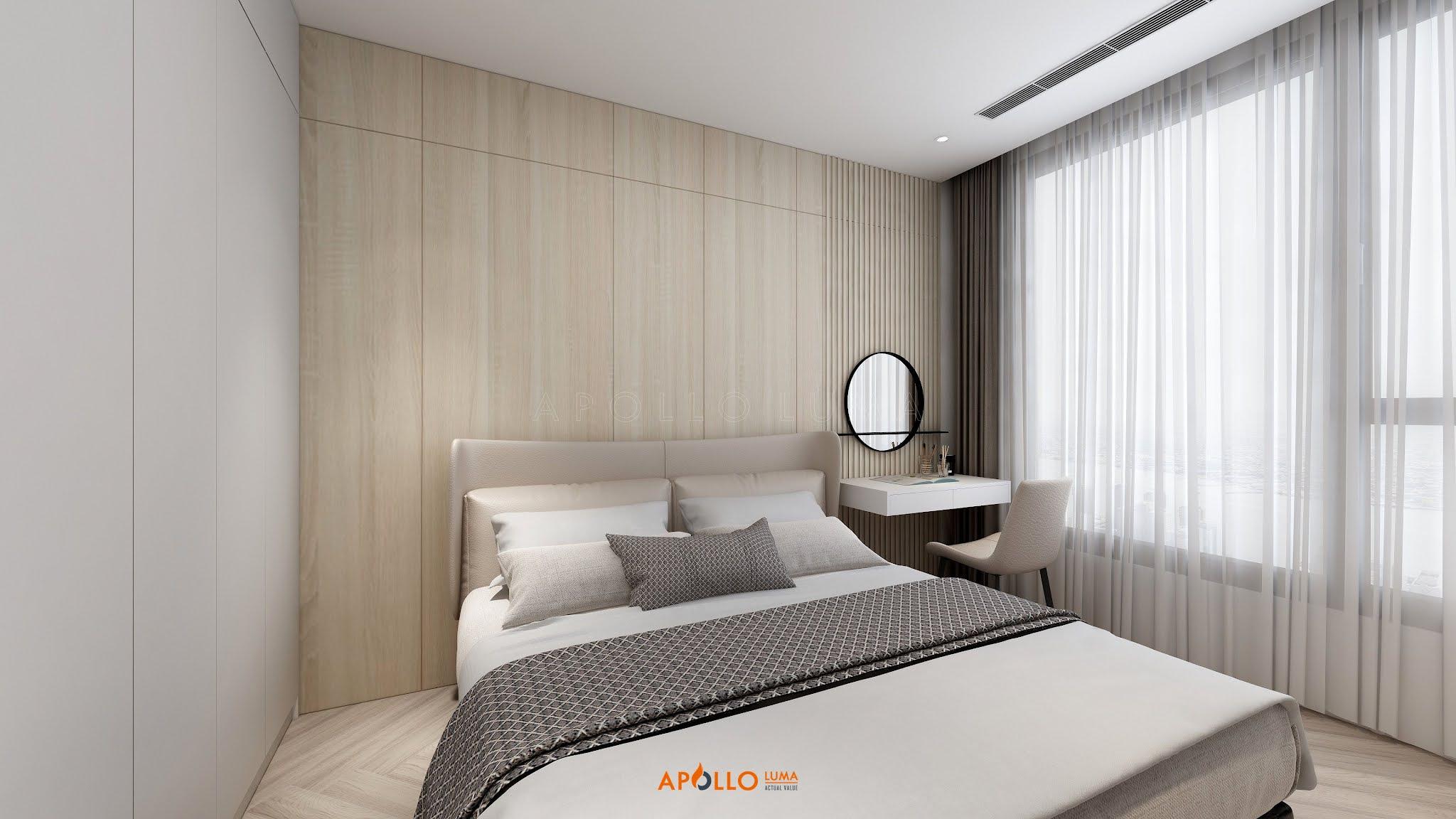 Thiết kế nội thất căn hộ 3 phòng ngủPhương Đông Green Park