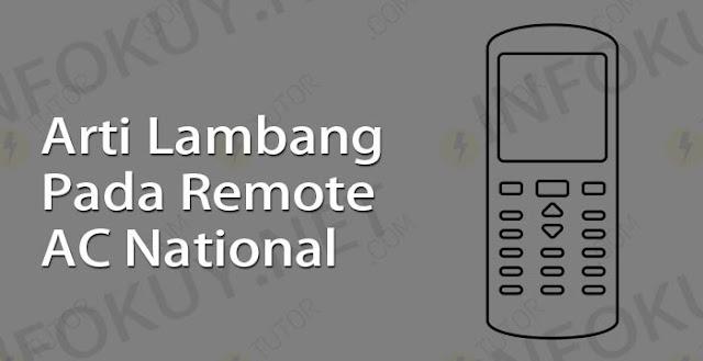 arti lambang pada remote ac national
