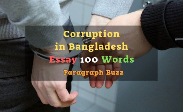 Corruption in Bangladesh Essay in 100 Words