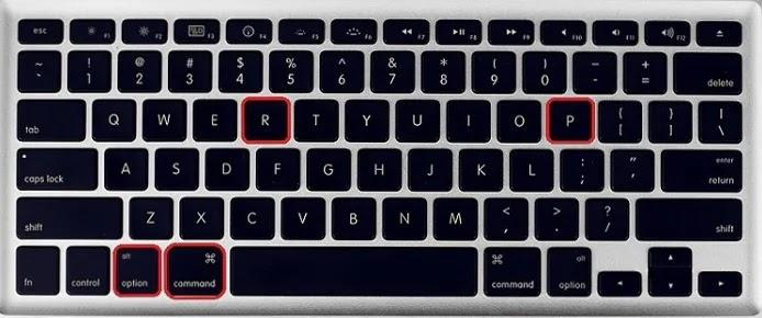 ماك لوحة المفاتيح إعادة تعيين ذاكرة الوصول العشوائي