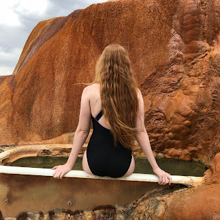 Red rock hot tub