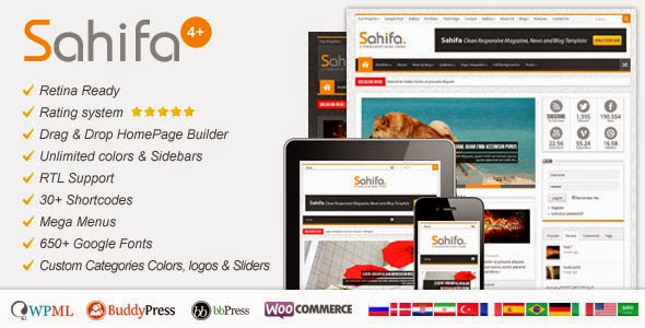 Sahifa v3.4.0 WordPress Theme