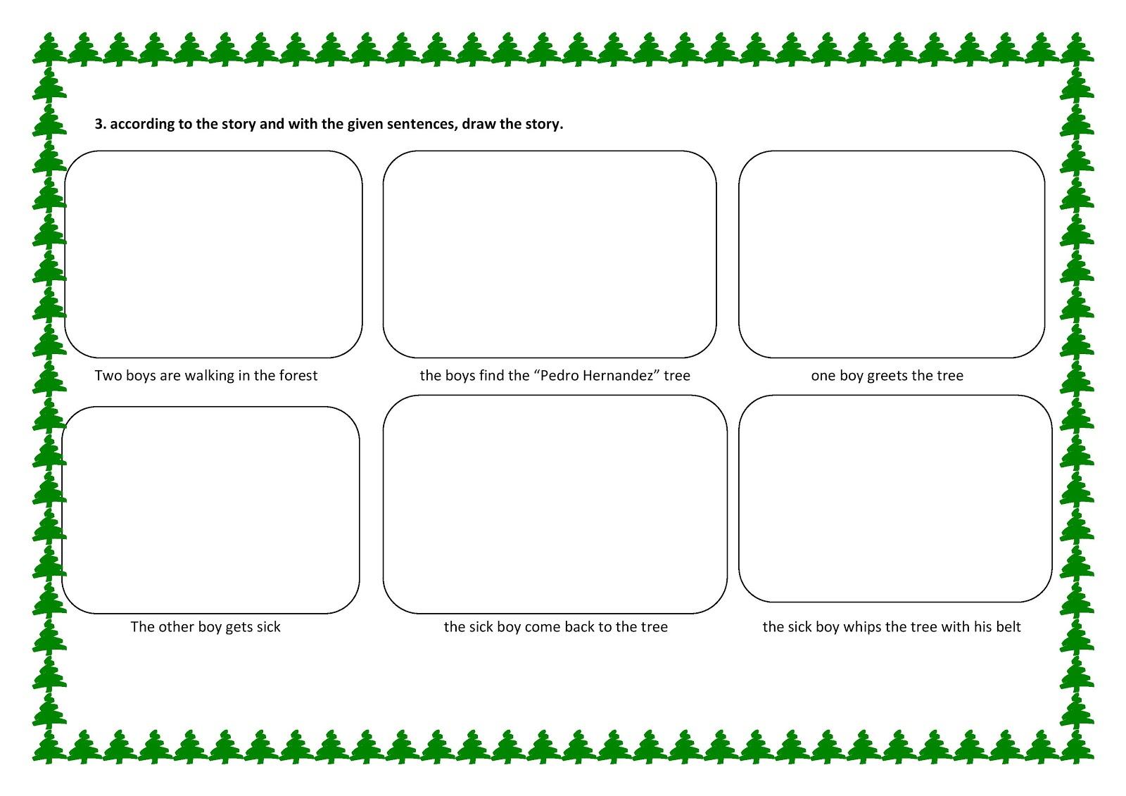 English 4 Kids Pedro Hernandez Story Worksheet