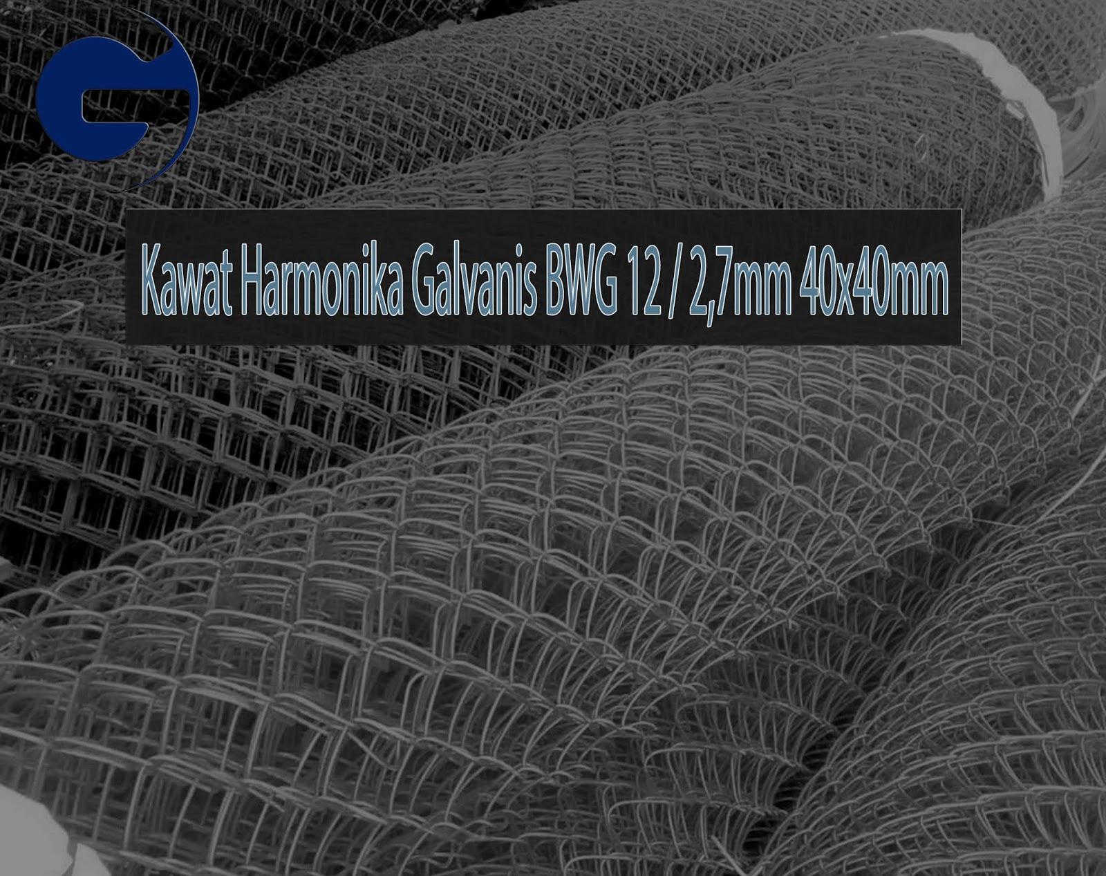 Jual Kawat Harmonika Galvanis SNI BWG 12/2,7mm 40x40mm
