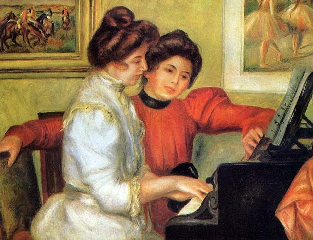 Pierre-Auguste Renoir - Yvonne y Christine Lerolle tocando el piano - 1897