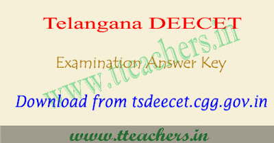 TS Deecet answer key 2018, Telangana Dietcet key 2018