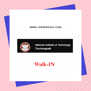 NIT Trichy Walk-In 2019 for Medical Officer Post (Rs.55,000 per month)