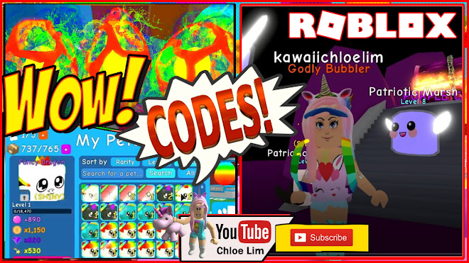 Roblox Bubble Gum Simulator Gameplay! Codes! NEW EGG Island and Chest In Rainbow Land!