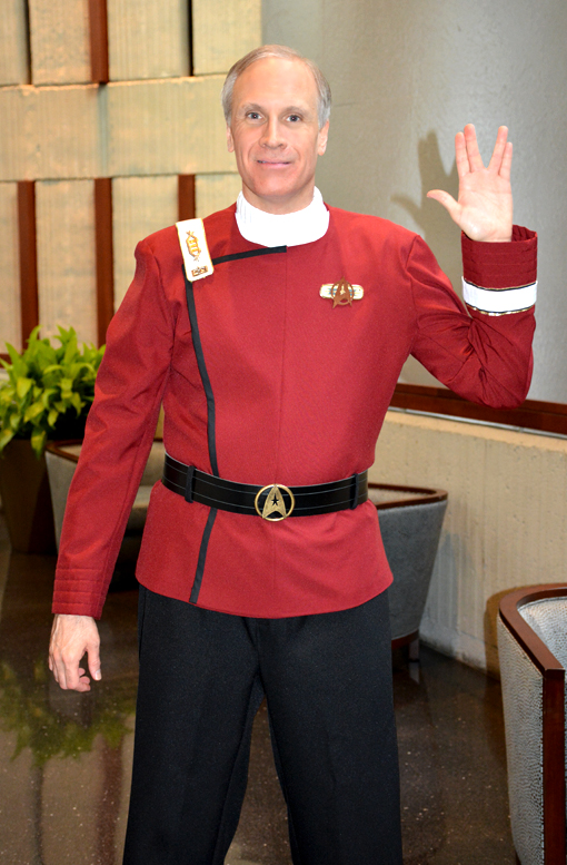 Starfleet, one of the few in an awesome costume!