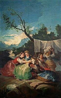 Las Lavanderas en el Manzanares. Francisco de Goya