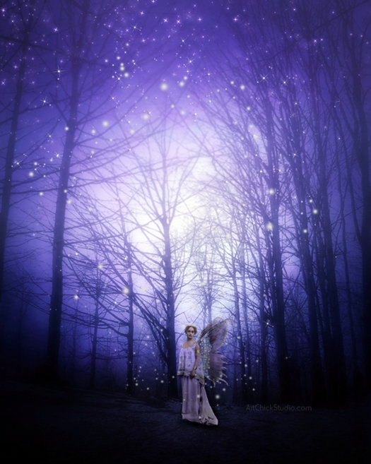 Starry Sky Fairy Digital Art