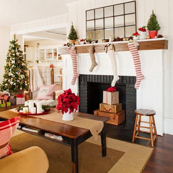 decoración sala navideña