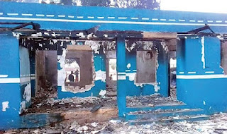 Okada Riders Burn The Office Of FRSC Over Alleged Death motorcyclist's