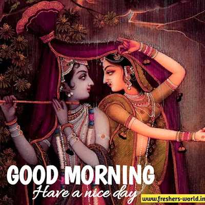 good morning radha krishna images download