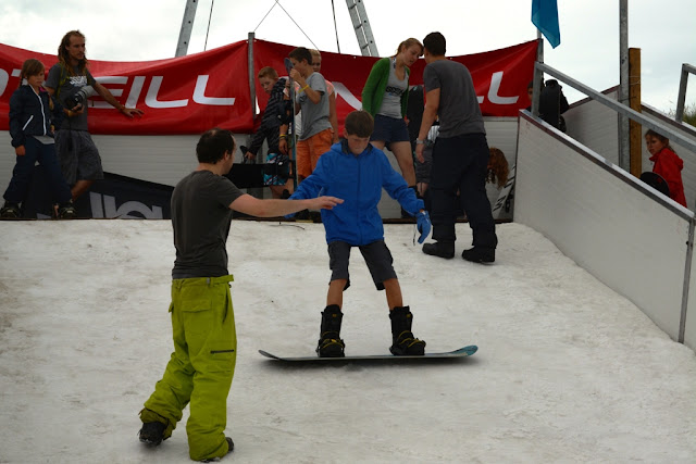 O'Neill Beach club Blankenberge Snowboarding instruction