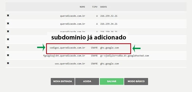 Como criar subdomínio no registro br e apontar no Blogger