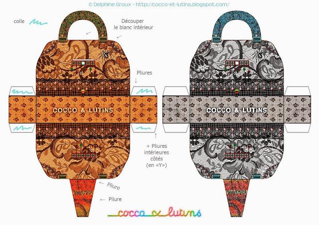 Cocco and Lutins Free Printable Bags.