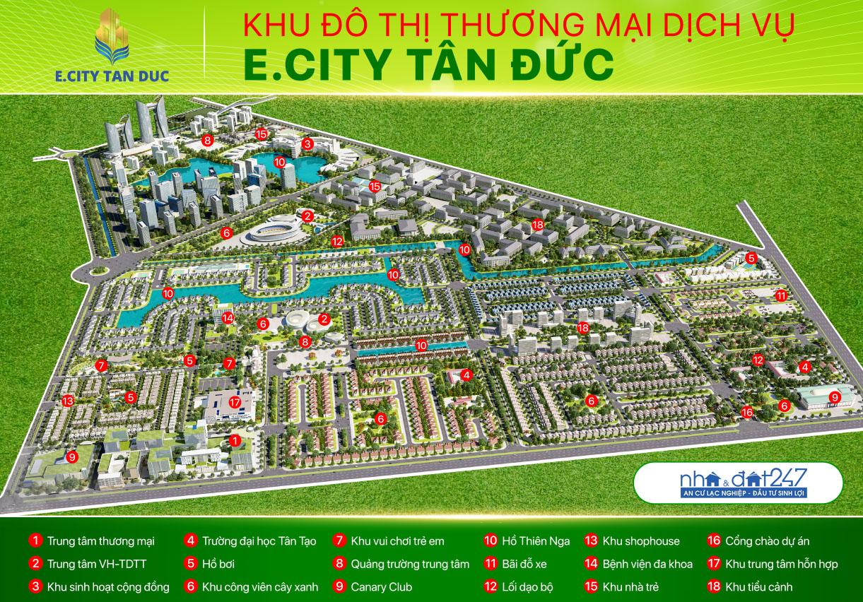 Bản đồ vị trí E.CITY TÂN ĐỨC