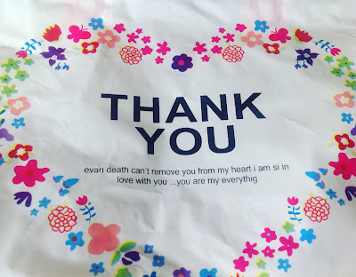 thank you carrier bag