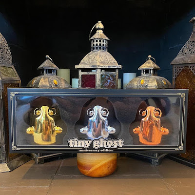 Tiny Ghost 5th Anniversary Chrome Edition 3 Pack by Reis O'Brien x Bimtoy x Bottleneck Gallery