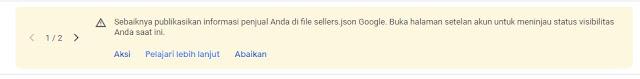 Pengaruh Tidak Mengatur File Sellers.json