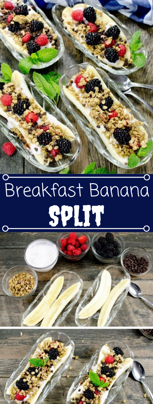 Banana Split Breakfast Bar #healthydiet #breakfast #banana #paleo #diet