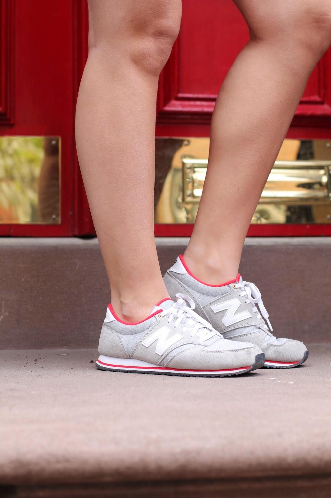 new balance sneakers fashion blog, fashion blogger sneaker style