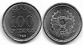 100 Cruzeiros, 1986