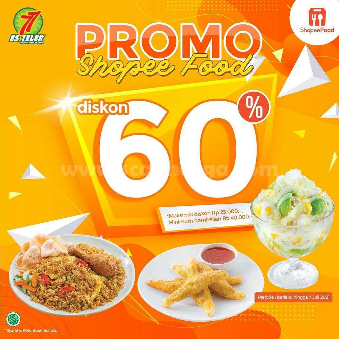 Promo ES TELER 77 DISKON hingga 60% Bareng Shopee Food