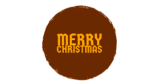 Dark brown colour Merry Christmas png free download