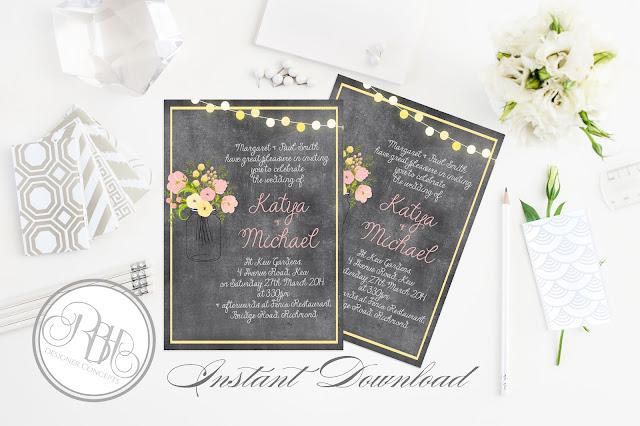https://www.etsy.com/au/listing/205195554/rustic-chalkboard-wedding-invitation