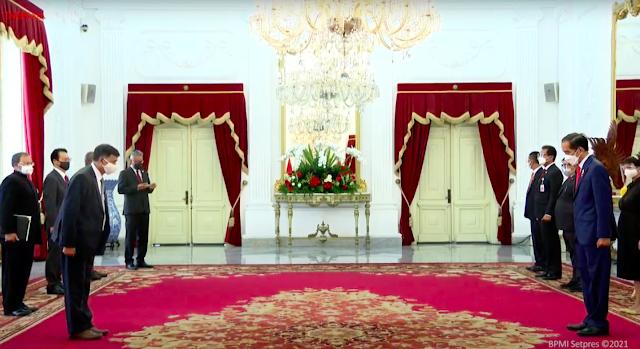 Presiden Jokowi Terima Surat Kepercayaan Tujuh Dubes Negara Sahabat