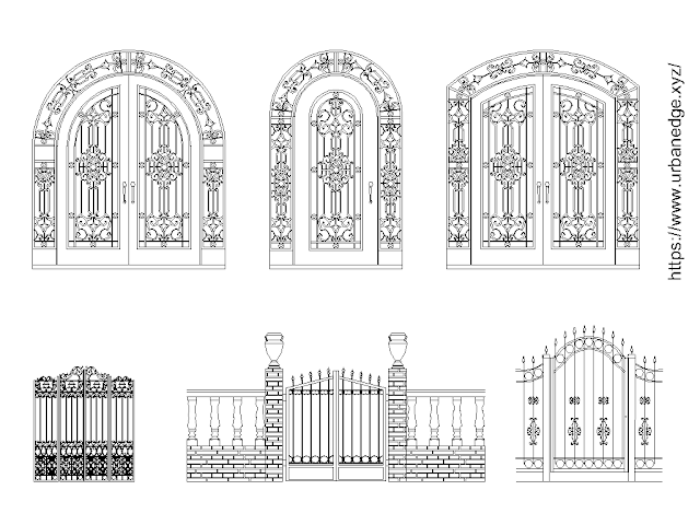 Gates free cad blocks elevation download - 5+ free gate cad block