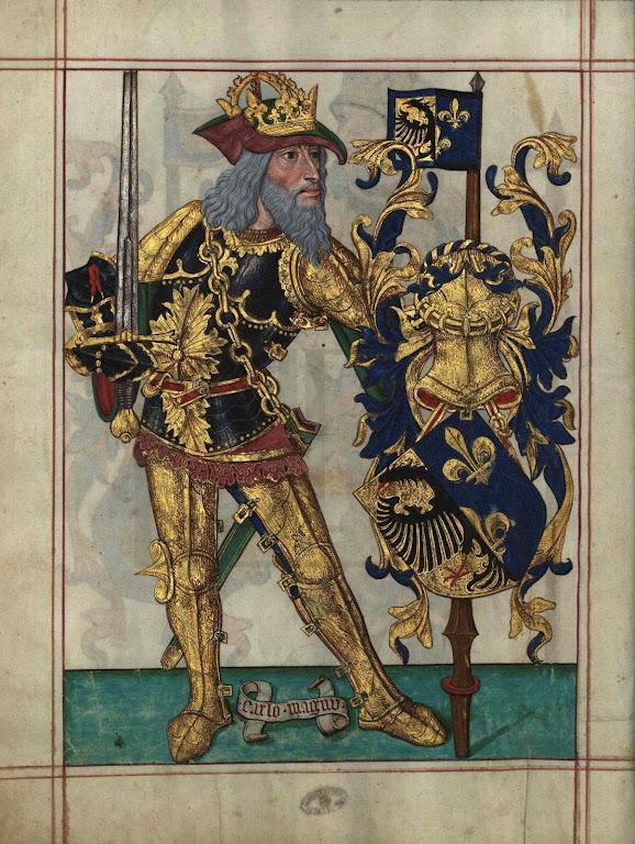 Carlos Magno, Livro do Armeiro-Mor, Arquivo Nacional Torre do Tombo