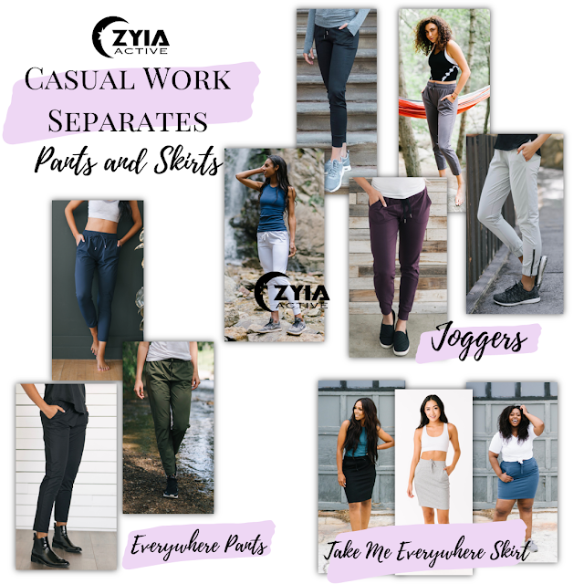 Every woman needs multipurpose wardrobe pieces that are stylish and functional.  Zyia Active has many that meet that demand.
