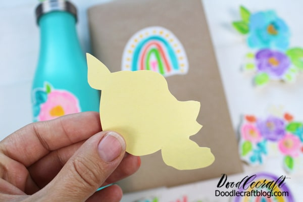 To use the sticker, just peel off the backing and stick them in place! It's so easy!