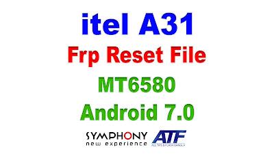 itel A31 Frp Reset File