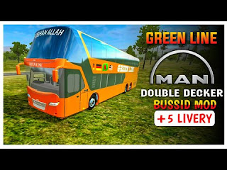 Mod Bus Green Line Man Double Decker Bussid