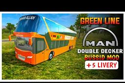 Mod Bus Green Line Man Double Decker Bussid | modbussid.com