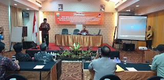 Sekda Provinsi Jambi Membuka Secara Rapat Teknis Kesiapsiagaan Penanggulangan Bencana Kebakaran Hutan Dan Lahan.