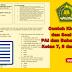 Contoh Kisi-Kisi dan Soal UAS PAI dan Bahasa Arab Kelas 7, 8 dan 9 MTs