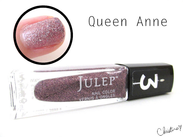 Julep Maven Fall Neutrals Queen Anne Swatch Review It Girl Glitter Lilac confetti microglitter nail polish