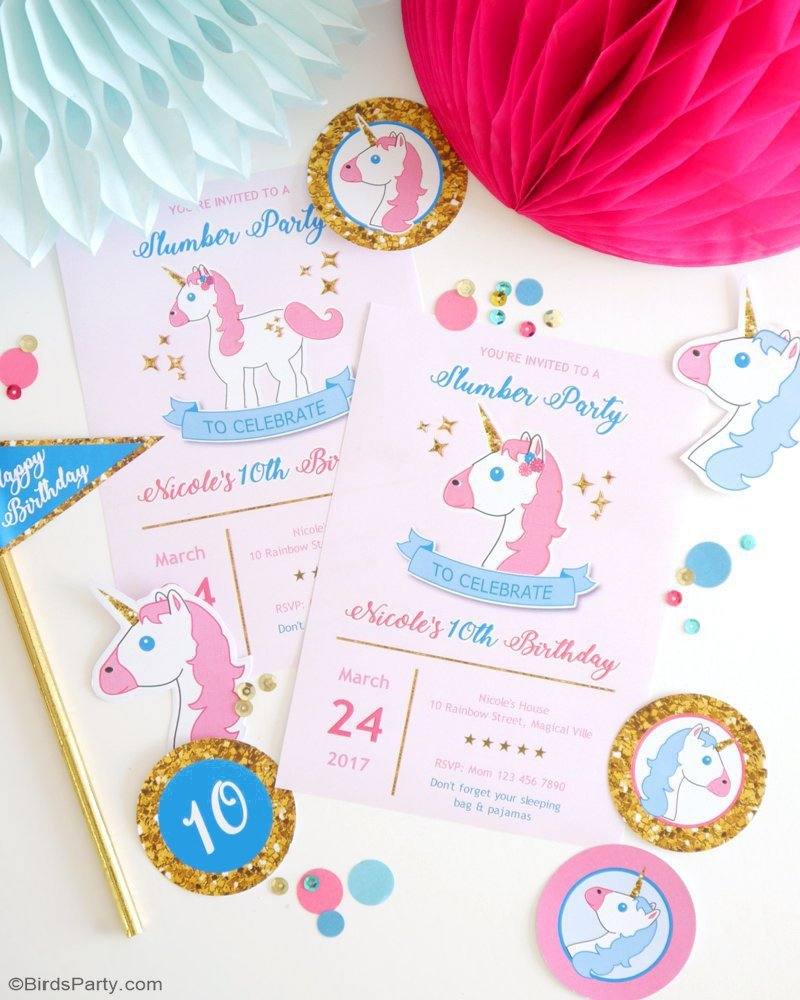 My Daughter\'s Unicorn Birthday Slumber Party - Party Ideas | Party ...