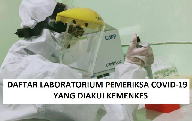 Daftar 772 Laboratirum Pemeriksa Covid-19 Yang Sudah Terdaftar pada Aplikasi NAR