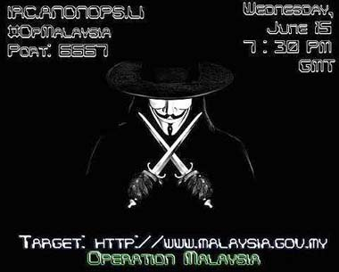 Anonymous Hackers hit 50 Malaysian government websites