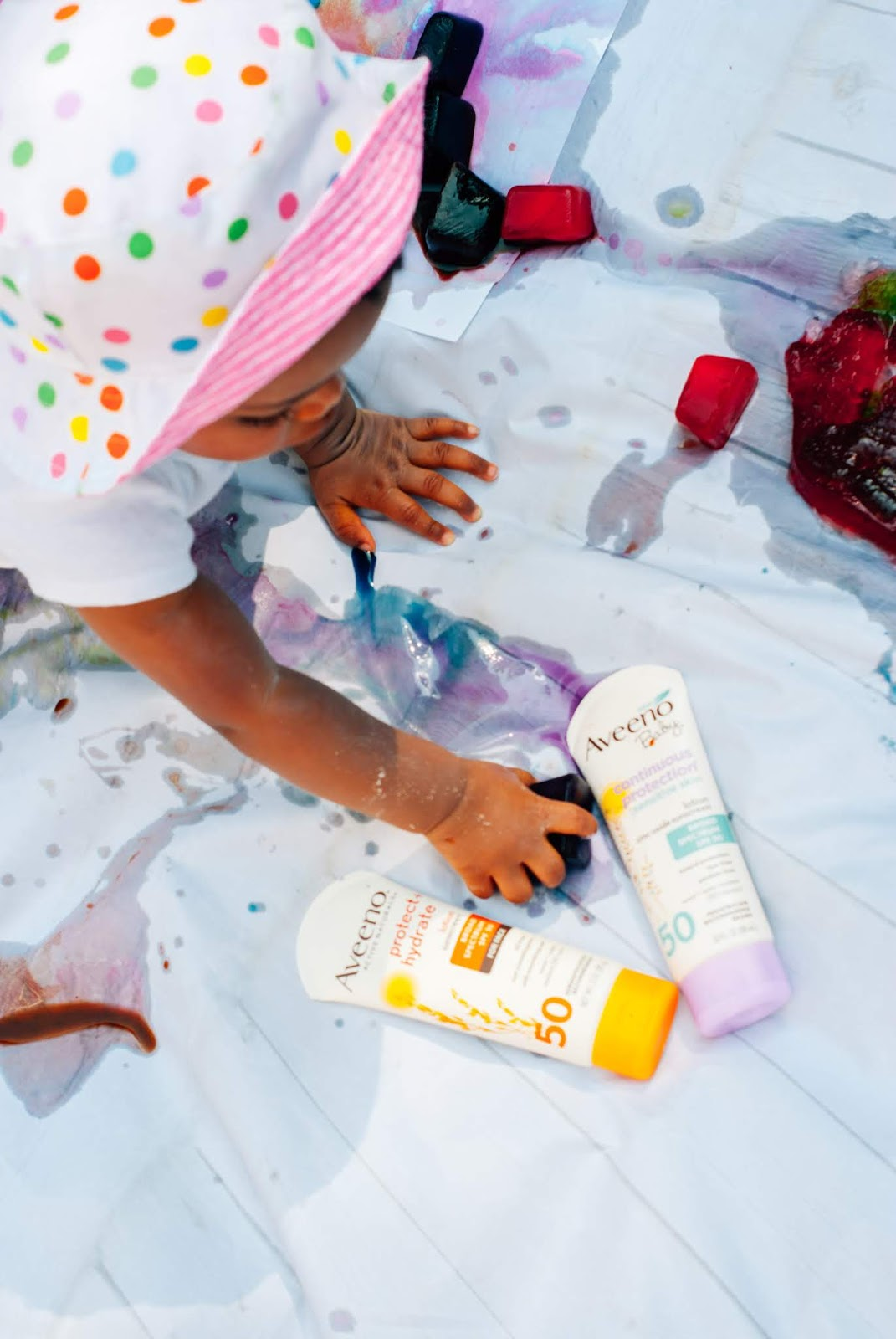 As a kid I remember spending tons of time outdoors during the summer. There's plenty of activities we can do inside to stimulate her mind, but I want McKenna to enjoy spending time outside in the fresh air. I'm sharing 4 super simple summer baby sensory activities and how we keep our skin protected from the harsh summer sun! #SunnyMoments #CollectiveBias @Aveenous @cvspharmacy #CVSBeauty #babysensoryplay #sensoryplay #summerbabyactivities