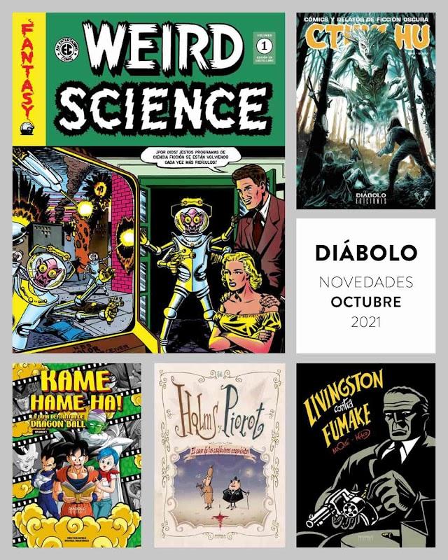 Diábolo Ediciones. Novedades de Octubre de 2021