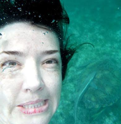 Unglamorous selfie with turtle
