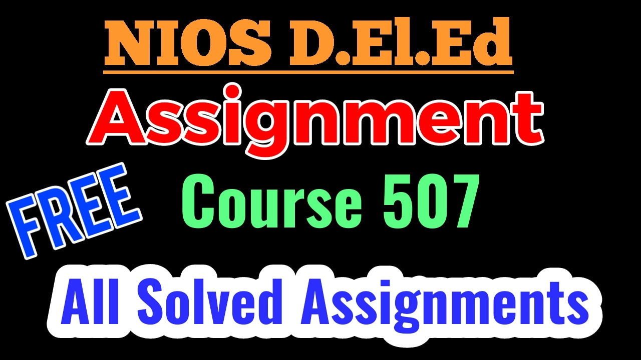 d.ed assignment