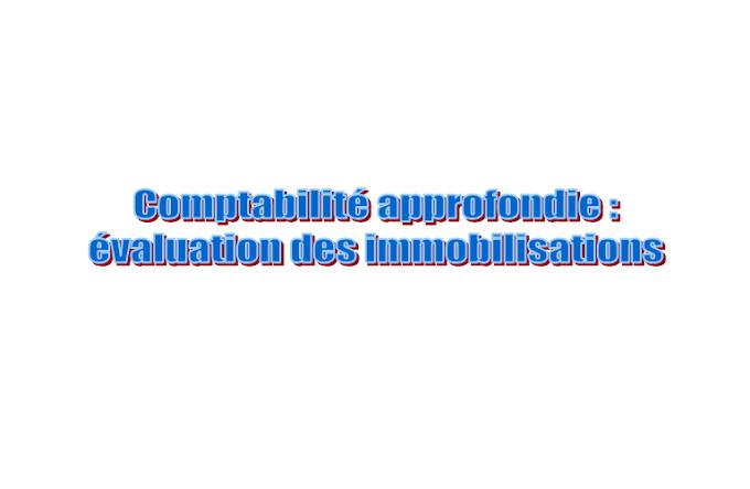 Comptabilité approfondie : évaluation des immobilisations